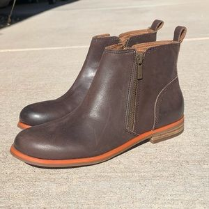 Lucky Brand Brown Leather Dalia Boots 6.5
